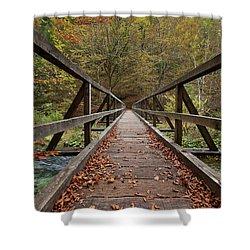 Shower Curtain featuring the photograph Bridge by Davor Zerjav