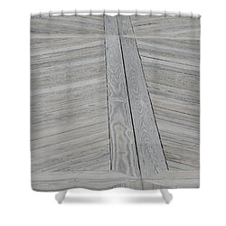 Bridge Floor Shower Curtain by Linda Geiger