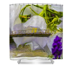 Shower Curtain featuring the photograph Bridge Flower.  by Leif Sohlman