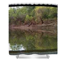 Shower Curtain featuring the photograph Bridge Frame by Betty Northcutt