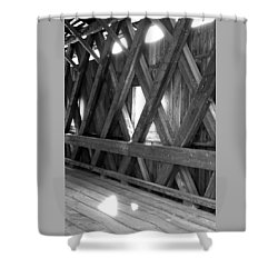 Shower Curtain featuring the photograph Bridge Glow by Greg Fortier