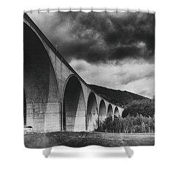 Shower Curtain featuring the photograph Bridge by Hayato Matsumoto