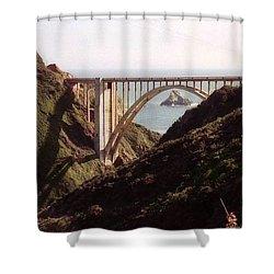 Bridge Highway 1 Coastal Road Shower Curtain