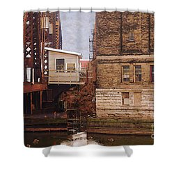 Bridge House Shower Curtain by David Blank