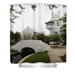 Bridge In Alys Beach Shower Curtain by Megan Cohen