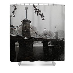 Bridge In Suspension 1867 Shower Curtain