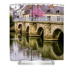 Bridge In The Loir Valley, France Shower Curtain