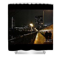 Bridge Into The Night Shower Curtain