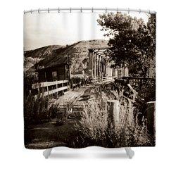 Bridge Shower Curtain by Marcin and Dawid Witukiewicz