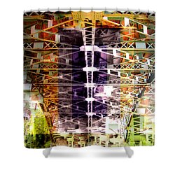 Bridge Shower Curtain by Marko Mitic