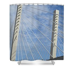 Bridge Shower Curtain by Martin Cline