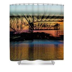 Bridge Motion Shower Curtain