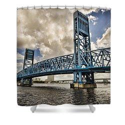 Bridge Of Blues Shower Curtain