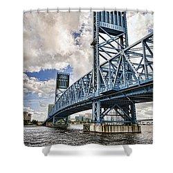 Bridge Of Blues II Shower Curtain