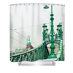 Bridge Of Liberty In Budapest Shower Curtain by Anastasy Yarmolovich