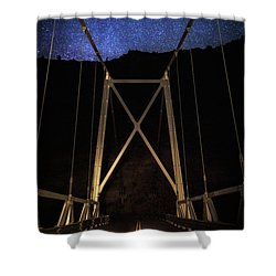 Shower Curtain featuring the photograph Bridge Of Stars by Cat Connor