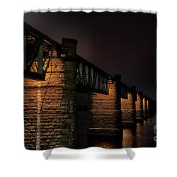 Bridge On Holy River Godavari Shower Curtain