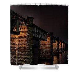 Bridge On Holy River Godavari Shower Curtain