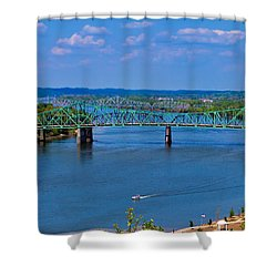 Bridge On The Ohio River Shower Curtain by Jonny D