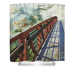 Bridge Over Clouds Shower Curtain