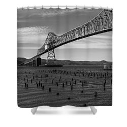 Shower Curtain featuring the photograph Bridge Over Columbia by Jeff Kolker