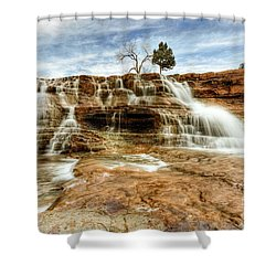 Bridge Over Desert Water Shower Curtain