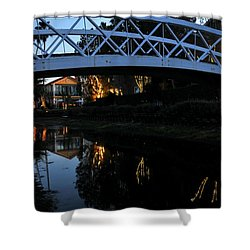 Bridge Over Lights Shower Curtain