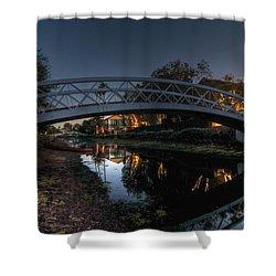 Bridge Over Shadows Shower Curtain