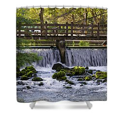 Bridge Over Stream Shower Curtain