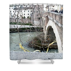 Bridge Over The Tyre Shower Curtain by Melinda Dare Benfield