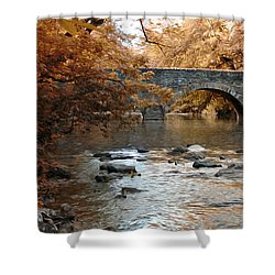 Bridge Over The Wissahickon At Valley Green Shower Curtain by Bill Cannon