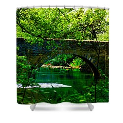 Bridge Over The Wissahickon Shower Curtain by Bill Cannon