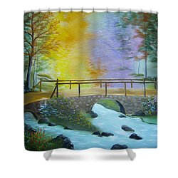 Bridge Over Troubled Water Shower Curtain