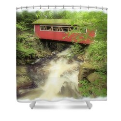 Bridge Over Troubled Water Shower Curtain by Karol Livote