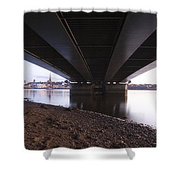 Shower Curtain featuring the photograph Bridge Over Wexford Harbour by Ian Middleton