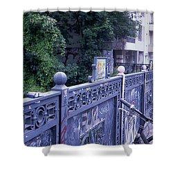 Bridge Railing Shower Curtain