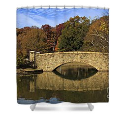 Bridge Reflection Shower Curtain