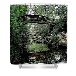 Bridge Reflections Shower Curtain