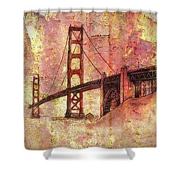 Bridge Rustic Shower Curtain by Larry Bishop