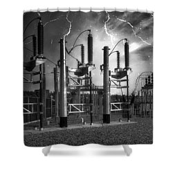 Bridge St Power Substation 2 - Spokane Washington Shower Curtain by Daniel Hagerman