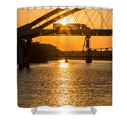 Bridge Sunrise 2 Shower Curtain