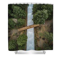 Bridge The Gap Shower Curtain