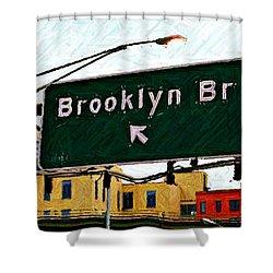 Bridge Thisaway Sketch Shower Curtain by Randy Aveille