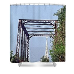 Bridge To God Shower Curtain