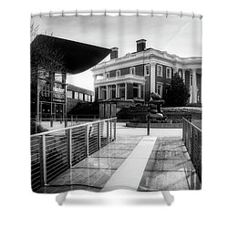 Bridge To Hunter Museum In Black And White Shower Curtain