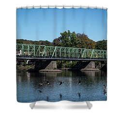 Bridge To Lambertville 2 Shower Curtain