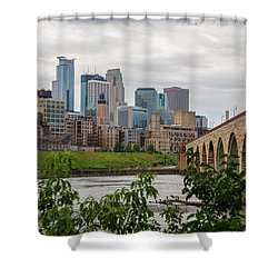 Bridge To Minneapolis Shower Curtain
