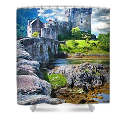 Bridge To The Castle Shower Curtain