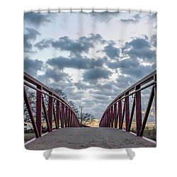 Bridge To The Clouds Shower Curtain