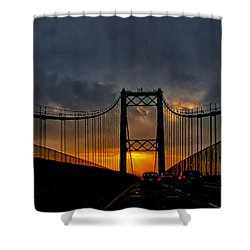 Shower Curtain featuring the photograph Bridge To The Sunrise by Joseph Hollingsworth